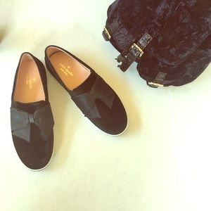 ⭐️NEW Kate Spade Delise Too Black Velvet sneakers